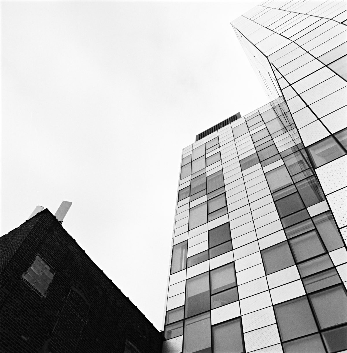 photography by David Hatters in NYC, Geometries of the sky, film shot with Hasselblad