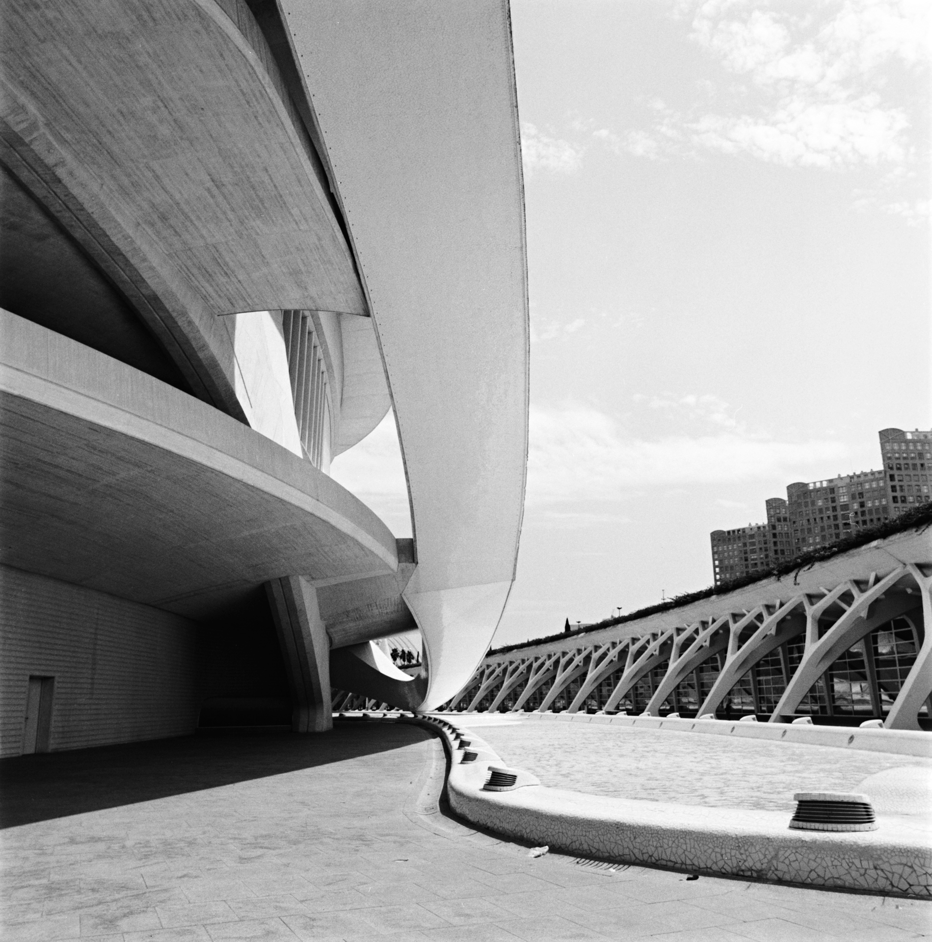 photography by David Hatters in Valencia, Geometries of the sky, film shot with Hasselblad